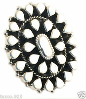 TAXCO MEXICAN 925 STERLING SILVER TEARDROP BEADED BEAD ADJUSTABLE RING MEXICO