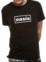 Oasis T Shirt Black Logo Definitely Maybe Official Licensed Black Mens Tee NEW