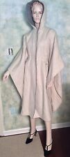 Vintage 70's Women's Wool Cape Coat Poncho with Hood Star Wars Style Sz S/M