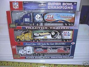 Upper Deck Collectibles Super Bowl Trucks 39 40 41 42 Colts Patriots Steelers