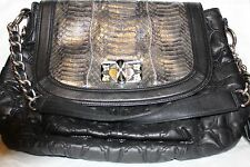 Chi designed by Falchi Black Shoulder Handbag Purse - EUC