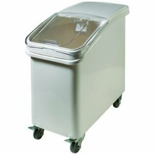Winco IB-21 21 Gallon Ingredient Bin with Brake Casters and Scoop