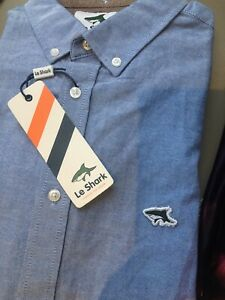 Mens Le Shark Light Blue Long Sleeved Shirt size M BNWT