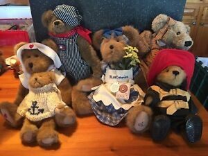 Lot of 6 Collectible Boyd's Bears Plush Excellent Tags On