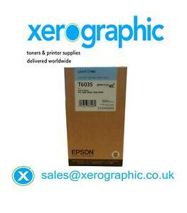 Genuine Epson Light Cyan Ink Cartridge Stylus Pro 7800,9800, T6035 / C13T603500