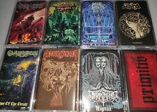 DEATH METAL PAKET - 8x KASSETTEN / TAPES - NEW/NEU