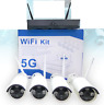 KIT VIDEOSORVEGLIANZA WIRELESS FULL HD 4 CANALI WIFI REMOTO IP 5G DVR NVR LAN