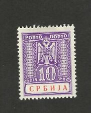 GERMANY OCC SERBIA-MH-STAMP-POSTAGE DUE 10 d - 1942..