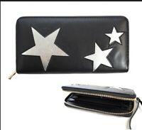 Three Shining Stars Star Fashion Women's Zipper Clutch Wallet