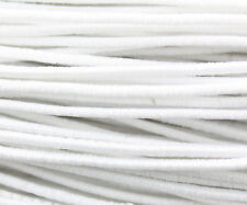 81ft White 1mm Round Elastic Cord Beading & Crafts Cord (3x9yds)