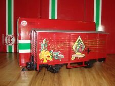 LGB 43353 RED CHRISTMAS BOX CAR WITH ELECTRONIC SOUND LN IN ORIGINAL BOX!