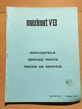 EMCO SERVICE PARTS for Maximat V13