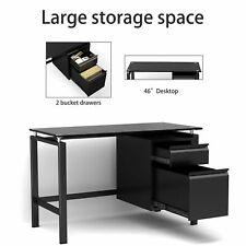 Office Computer Desk Gaming Laptop Table Corner Workstation With 2 Drawer Modern