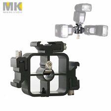 3 Hotshoe Mount Speedlight Flash Bracket for Umbrella Softbox Light Stand Holder