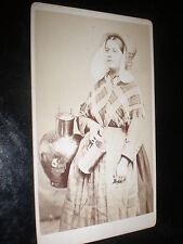 Cdv old photograph milk maid c1860s my rf 260(3)