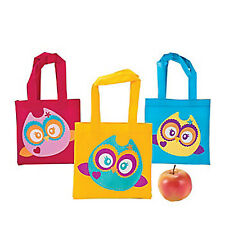 YOURE A HOOT OWL PARTY Small Tote Bag Cute Gift Bags Pack of 3 Free Postage