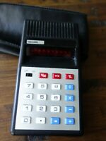 **RARE** Microlith Vintage Calculator with leather pouch.