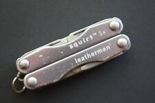 Leatherman RETIRED S4 Squirt Multi-tool with Storm Gray Handles keychain Size