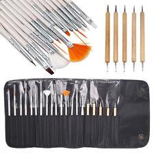 20 piezas Nail Art Diseño Pintura Juego De Brochas De Madera Pluma puntea Bundle Kit De Herramientas
