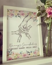 Personalised Nanny/mummy Mothers Day A4 Unframed Print