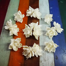 25 White Magnolia Sola Wood Diffuser Flowers 5 cm Dia. for crafts
