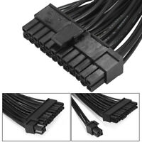 Mining 30cm 24Pin 20 + 4pin Dual ATX PSU Power Extension Cable Adaptor AC852