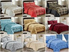 3PCS Quilted Jacquard Bedspread Comforter,BedThrow Single,Double,King,Super king