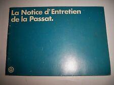 VOLKSWAGEN Passat 1980 - Notice d'entretien (carnet manuel conduite emploi)