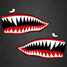 "2 - 5""x9"" Tigershark WWII Warhawks Stickers Decals Car Truck Aircraft"
