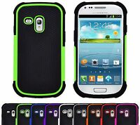 Shock Proof Heavy Duty Tough Armour Hard Case Cover For Samsung Galaxy S3 Mini