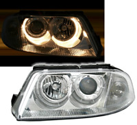 CLEAR ANGEL EYE HEADLIGHTS HEADLAMPS FOR VW PASSAT 3BG 10/2000 - 3/2005