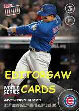 TOPPS NOW CARD 633: ANTHONY RIZZO PROVIDES FIRST WORLD SERIES RBI FOR CUBS 1945