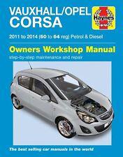 Haynes Manual 6335 Vauxhall Opel Corsa 1.0 1.2 1.4 Petrol & 1.3 Diesel 2011-2014