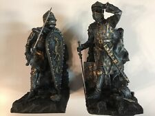 Medieval Dragon Heraldry Knight Bookends Statues 8� Suit Of Armour