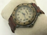 Fossil Men Watch Genuine Leather Band BW-6767 Water Resistant 3ATM Wrist Watch
