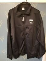 USA Olympics Jacket Full Zip Size XXXL 3XL Black White