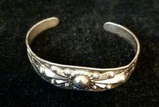 Vtg Navajo Sterling Silver Cuff Bracelet - Silver Arrow