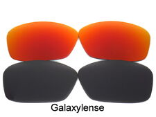 Galaxy Replacement Lenses For Oakley Ten-X Sunglasses Black&Red Polarized