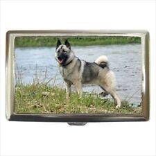 Norwegian Elkhound Cigarette Money Case - Dog Canine