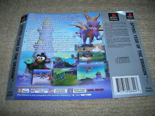 SPYRO : YEAR OF THE DRAGON – PS1 PAL Rear Box Art Insert Only
