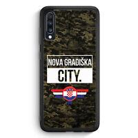 Nova Gradiska City Camouflage Kroatien Samsung Galaxy A40 Silikon Hülle Motiv...