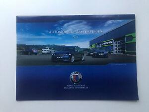 BMW Alpina Sales Brochure B3 D3 B5 B7 D7