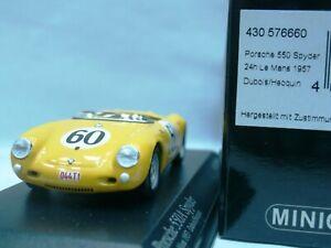 WOW EXTREMELY RARE Porsche 550 A4 RS #60 24h Le Mans WSC 1957 1:43 Minichamps