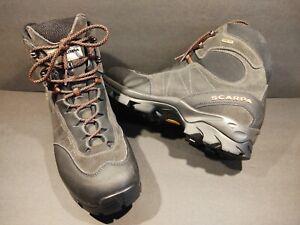 Scarpa ZG Gore-Tex Hiking Boots Vibram Waterproof Black Mens US 11.5 Size EUR 45