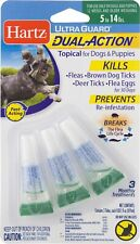 Hartz Topical Flea & Tick Prevention, 5-14 lbs Dogs, Dual Action, 30 Days Supply