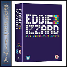 EDDIE IZZARD: SEXIE, STRIPPED AND FORCE MAJEURE ***BRAND NEW DVD BOXSET**