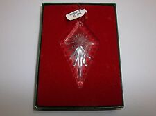 Vintage German Crystal Christmas Tree Ornament Pendant MIB