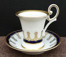 Prunkvolle Porzellan Mokkatasse von Weimar mit edler Goldstaffage !!! Nr. 210