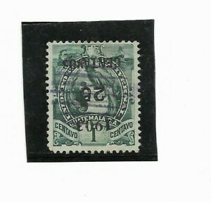 GUATEMALA 1898  INVERTED SURCHARGE SCOTT 124A USED