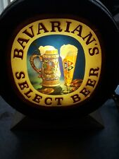 New ListingVintage Bavarian's Select Beer Lighted Barrel Bar Sign~Working Condition